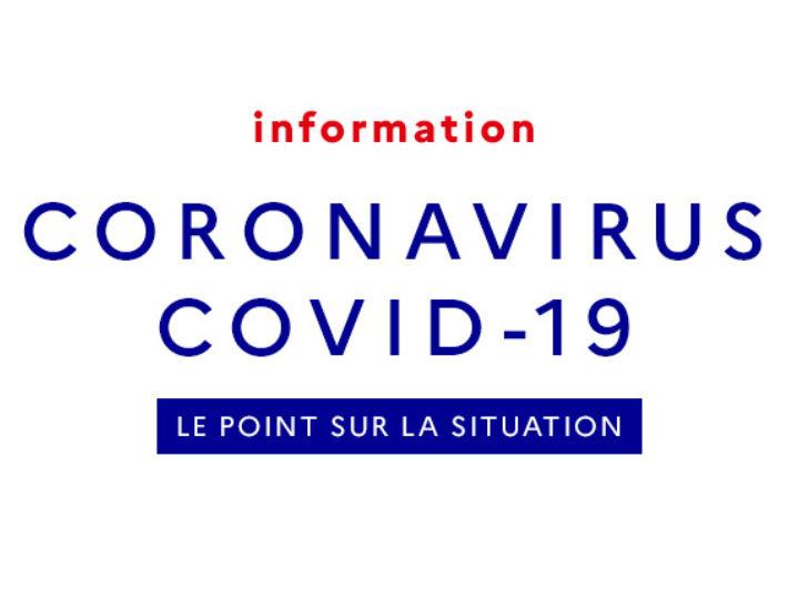 Point sur la situation Coronavirus